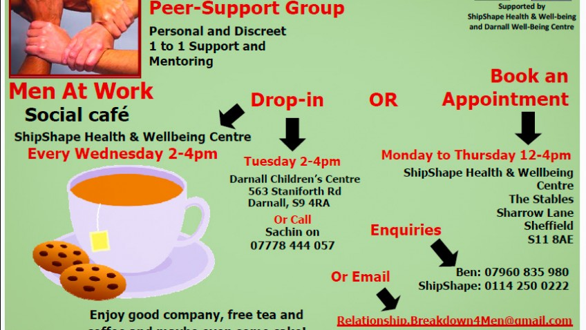 SSB Solicitors coming to 'Men at Work' social cafe on 9th July