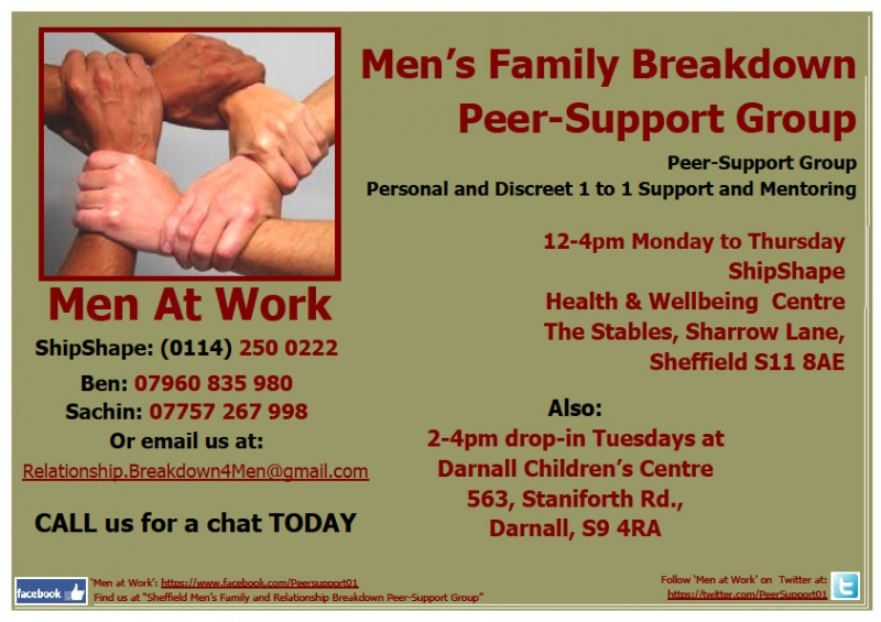'Men at Work' to support vulnerable dads affected by family breakdown